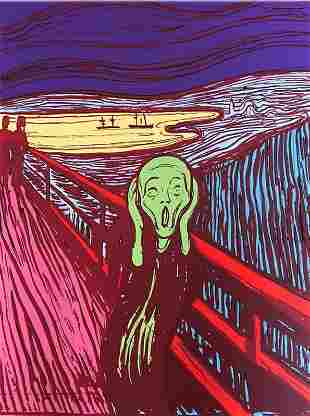 Andy Warhol Munch The Scream Green Sunday B Morning LE