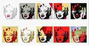Andy Warhol - Golden Marilyn Suite Sunday B Morning