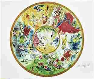 Marc Chagall Paris Opera Ceiling Lim Ed Facsimile Sig