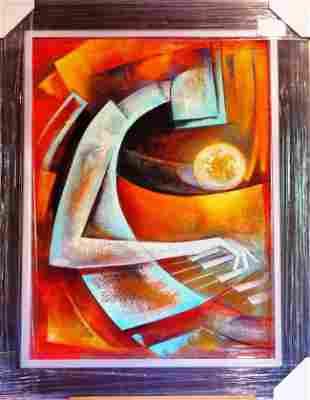 Juan Cotrino Sweet Melody Framed Mixed Media Canvas