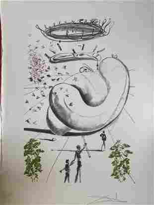 Salvador Dali - Moscas H/S Lithograph on Paper