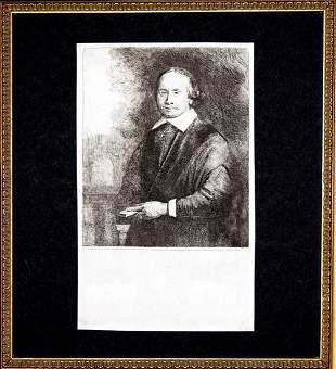 Rembrandt van Rijn - Jan Antonides von der Linden Etch