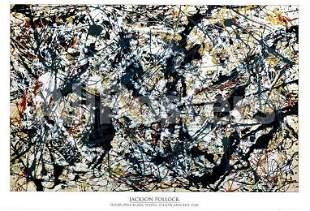 Jackson Pollock Silver over Black White Yellow Red 1948