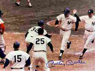 Autographed NY Yankees,Mickey Mantle Autograph Photo