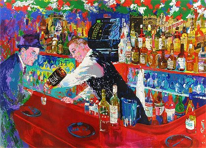 Leroy Neiman - Frank at Rao's Hand Signed LE Serigraph