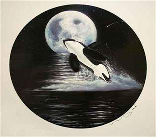 Robert Wyland ORCA MOON Serigraph LE