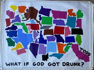 Todd Goldman God Got Drunk Original Canvas Acrylic