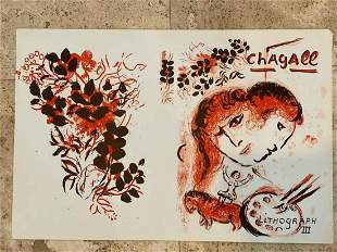 Marc Chagall Lithograph III Original Lithograph