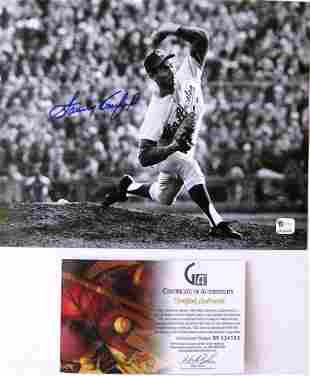 The Pitch Sandy Koufax 8x10 Autographed Photo with COA
