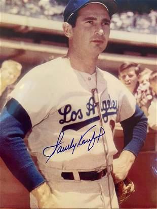 Sandy Koufax 8x10 Autographed Photo with COA