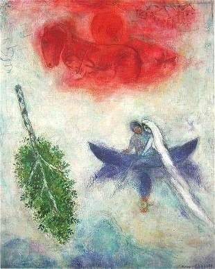 Marc Chagall La Barque Limited Ed Plate Signed Litho