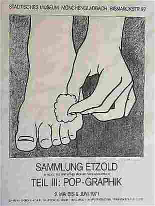 Roy Lichtenstein Foot Medication Lithograph