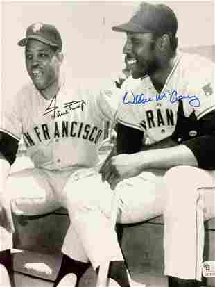Autographed Willie Mays & Willie McCovey Photograph