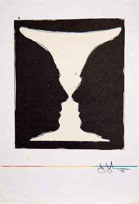 Jasper Johns Cup 2 Picasso 1973 Litho on Paper