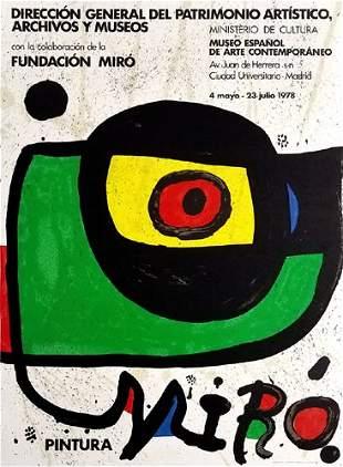 Joan Miro Pintura 1978 Original Lithograph on Paper