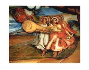 Daivd Alfaro Siqueiros Mexicans at Work FRAMED Litho
