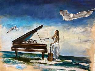 Harry McCormick - Seagulls Over Laura Oil on Canvas