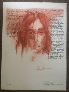 Leroy Neiman John Lennon Imagine HS LE Etching on Paper