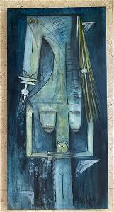 After Wilfredo Lam Untitled Stretched Oil on Canvas
