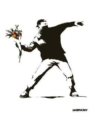 Banksy - Molotov Framed Offset Lithograph