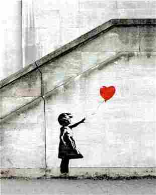Banksy - Red Balloon Framed Offset Lithograph