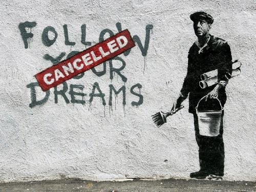 Banksy - Follow Your Dreams Framed Offset Litho Small