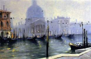 Vakhtang SILHOUETTE SAN MARCO Giclee on canvas LE