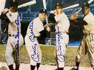 Signed Duke Snider/Mickey Mantle/J DiMaggio/Willie Mays