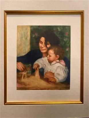 Pierre-Auguste Renoir Gabrielle Et Jean Etching Matted