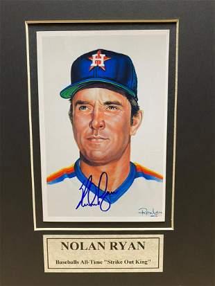 Autographed Nolan Ryan Photograph