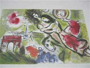 Marc Chagall Romeo and Juliet Lithograph Limited Ed