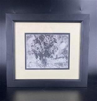 Marc Chagall - Bouquet Devant Saint Paul Framed Litho