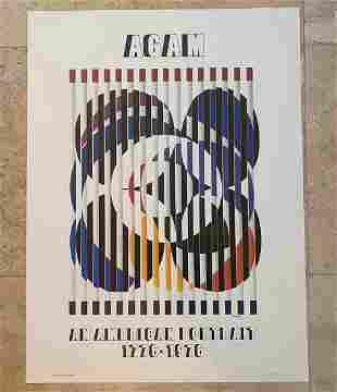 Agam American Portrait Lithograph