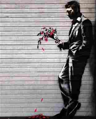 Banksy - Wither Framed Offset Lithograph