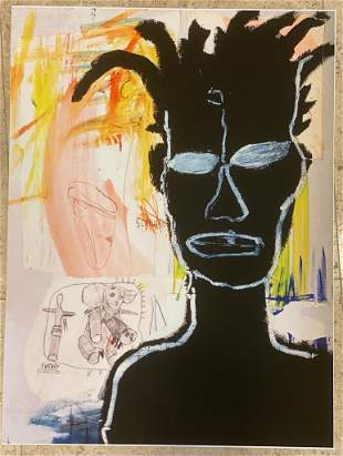 Jean Michel Basquiat Self Portrait Giclee on Paper