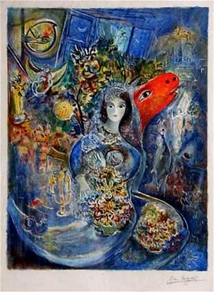 Marc Chagall Bella Facsimile Signed Limited Ed Litho