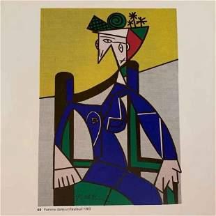 Roy Lichtenstein Femme dans un Fauteuil Framed Bookpage