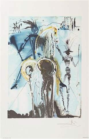 Salvador Dali Don Quichotte Facsimile Signed Limited Ed