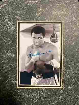 Autographed Muhammad Ali B&W (Matted) Photo