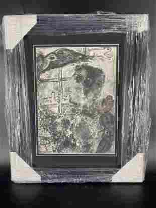 Marc Chagall - Double Profit Framed Litho Bookplate