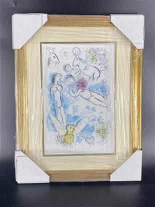 Marc Chagall L envolee Magique Framed Lithograph