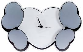 KAWS x HECTIC HEART & CROSSBONE WALL CLOCK