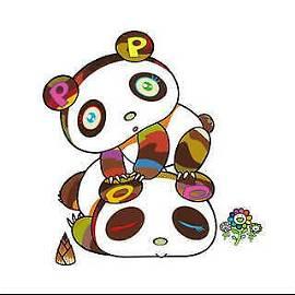 Takashi Murakami Panda. Hoyoyo, Suyasuya. HS LE Seri