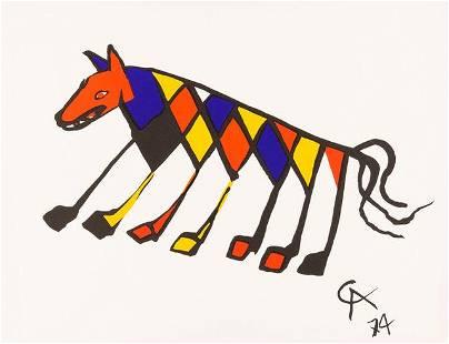 Alexander Calder Beastie Plate Signed Lithograph