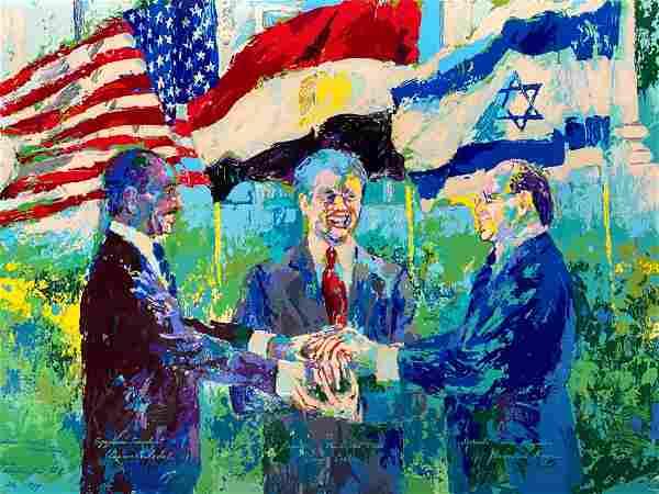 Leroy Neiman - Egyptian-Israeli Peace Treaty L/E Triple