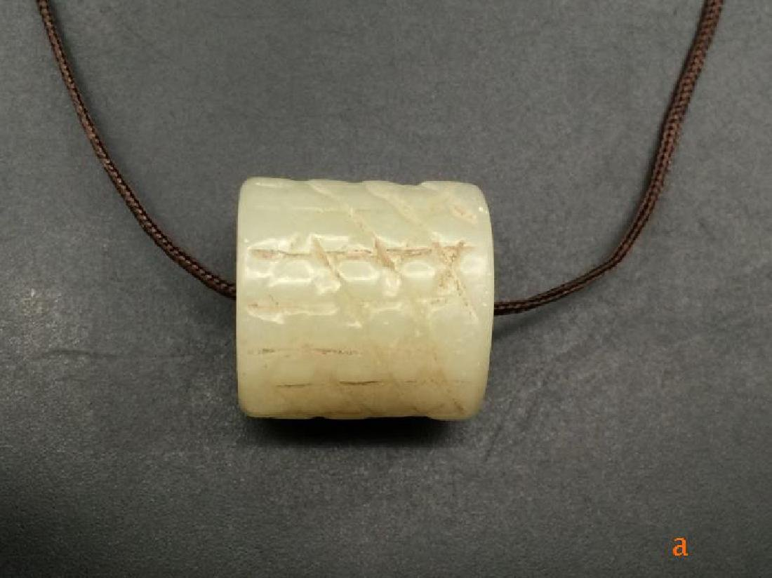 Chinese Qing Dynasty Hetian Jade Charm