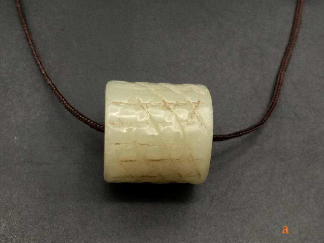 Chinese Qing Dynasty Hetian Jade Charm - 2