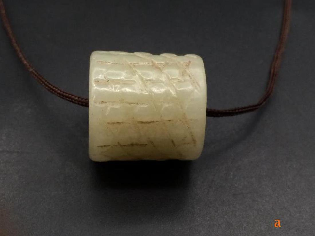 Chinese Qing Dynasty Hetian Jade Charm - 4