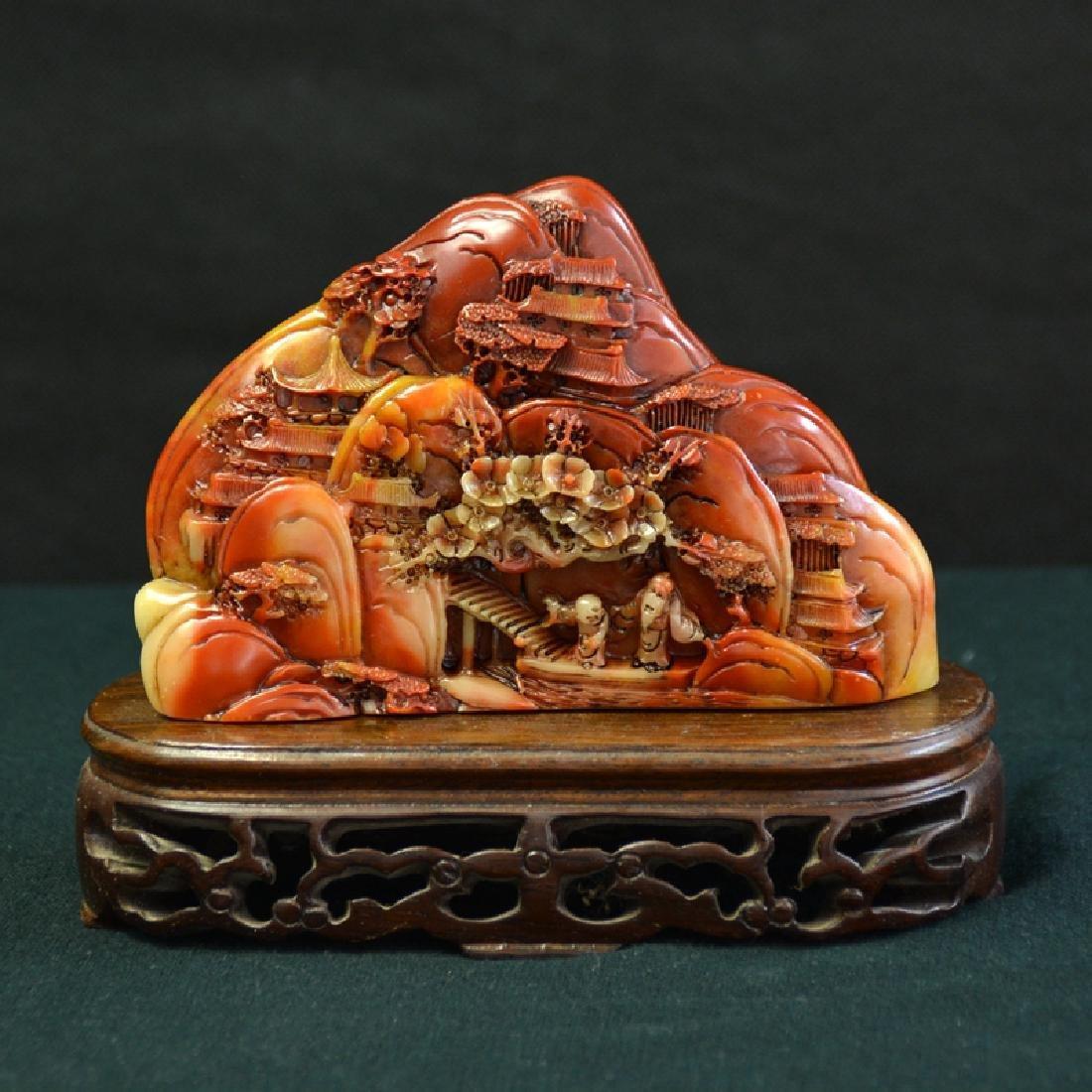 Chinese Antique Shoushan Stone Carve
