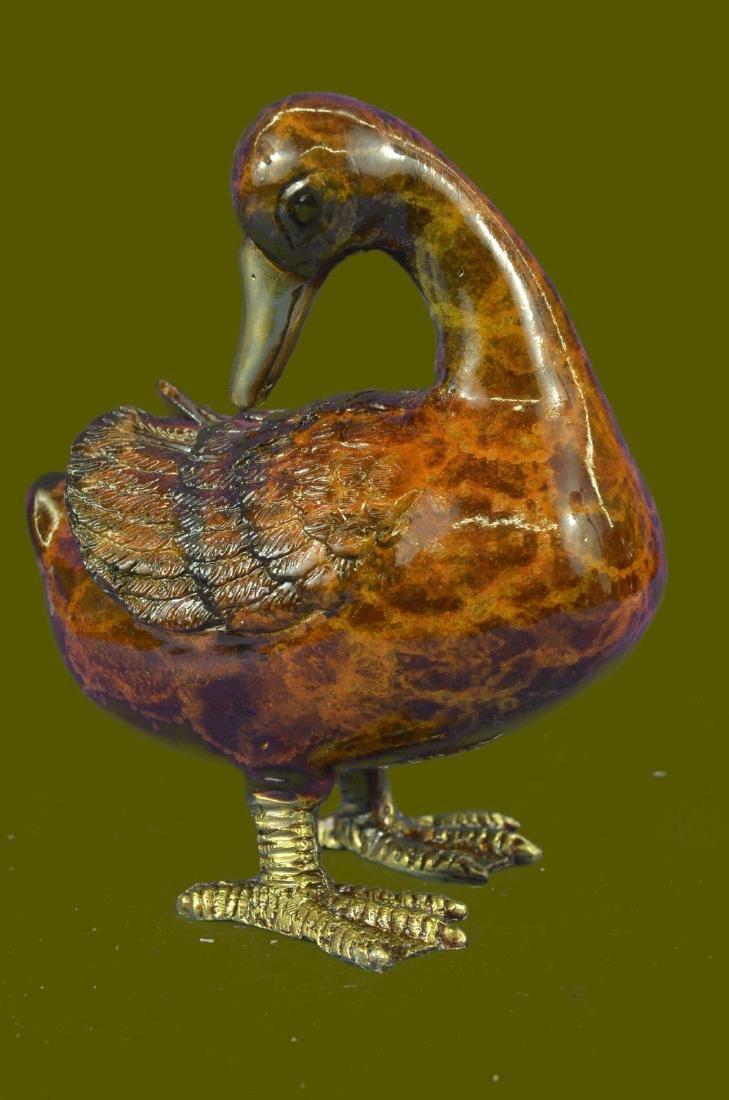 Animal Duck Multi Color Patina Figurine Sale Sculpture